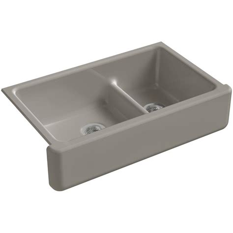 Kohler Whitehaven Sink 36 by Kohler Whitehaven Smart Divide Undermount Farmhouse Apron