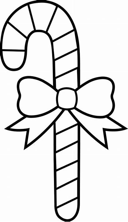 Candy Coloring Canes Christmas Pages Popular