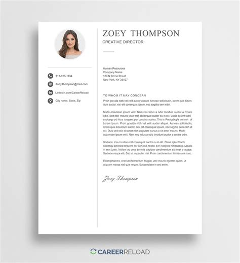 photoshop cover letter templates
