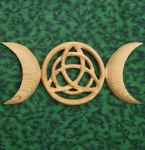 Triple Moon Goddess with Triquetra-Celtic Symbol- Modern ...
