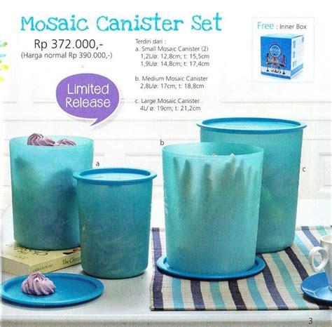 jual tupperware mosaic canister biru limited edition di lapak ara tup dealuv shop