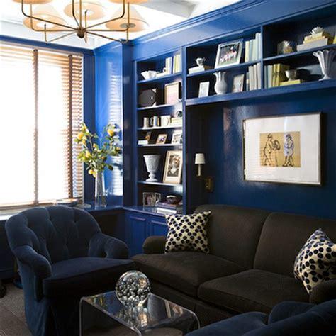 geometric rug cobalt blue sofa velvet navy interior designs