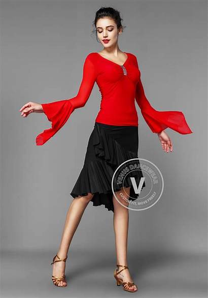 Dance Flare Sleeve Luxury Dancewear Ballroom