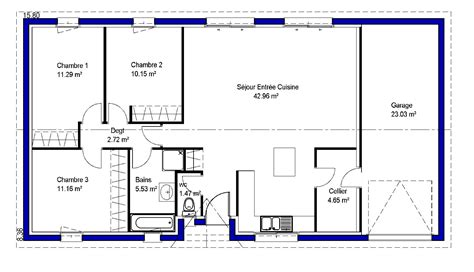 plan de maison plein pied gratuit 3 chambres best exposition plan maison chambres lina maisons lara