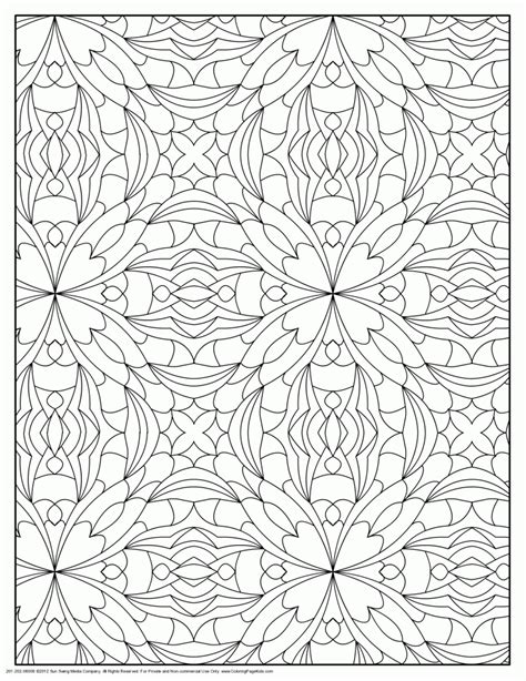 tessellation coloring pages  grown ups