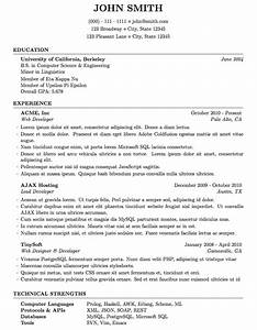 Latex templates curricula vitae resumes for Latex resume template