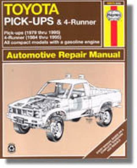 free online auto service manuals 1994 toyota xtra auto manual haynes toyota pickup and 4runner 1979 1995 repair manual