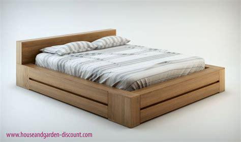 Meuble Rangement Bureau Design - lit bois massif contemporain noyer clair haut de gamme