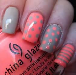 And stripes nail art design a modern very cute