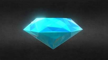 3d Diamond Sapphire Gem Precious Ready Poly