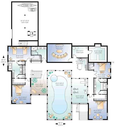 house plans with pool beautiful home plans with pool 6 house plans with indoor