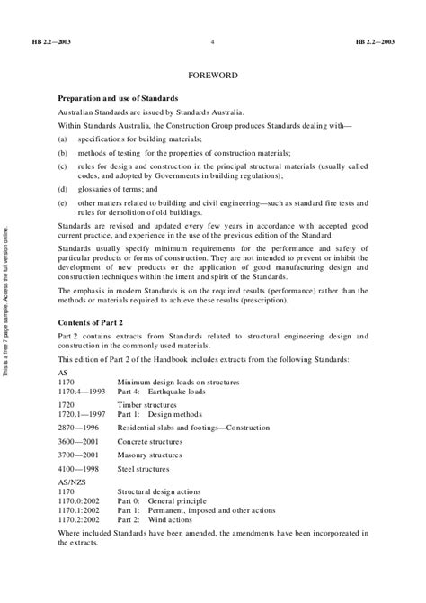 Hb2.2 2003 civil engeering standards students - structural