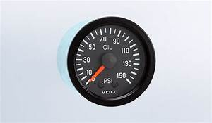 Vision Black 150 Psi Mechanical Oil Pressure Gauge With
