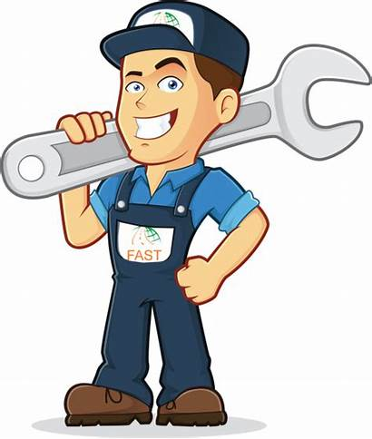 Clipart Meccanico Mechanic Cartoon Manager Plumbing Gilbarco
