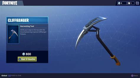 rare cliffhanger pickaxe harvesting tool cosmetic skin