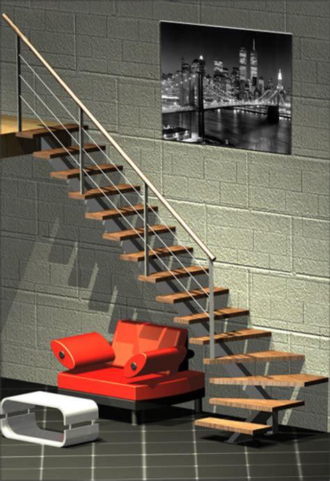 escalier bois m 233 tal limon central re m 233 tallique