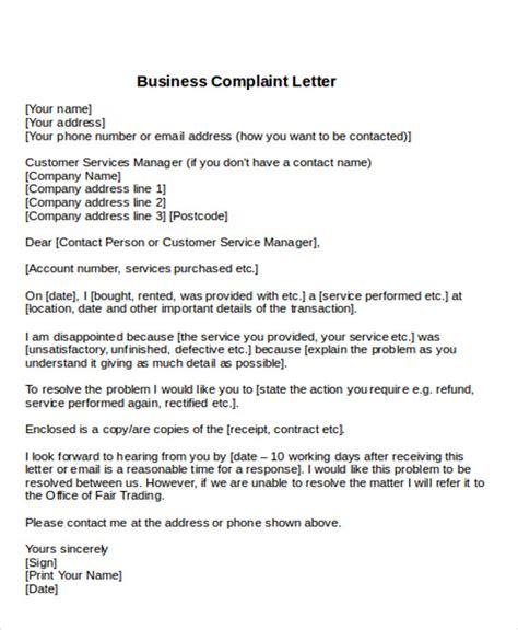 business letter sle business letter sle complaint 28 images business