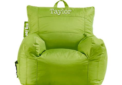 Personalized Big Joe Lime Dorm Bean Bag Chair Art Decor For Living Room Floral Arrangements End Table Wall Designs Furniture Price List Paint Colors Rooms Bookcase Modern Ideas