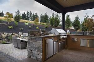 outdoor kitchen ideas country deck patio ttm development With idee amenagement cuisine d ete