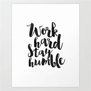 work hard stay ... Wall Typography Quotes