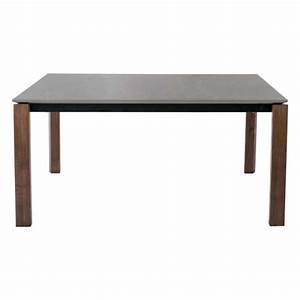 Table De Cuisine Grise : table en c ramique grise extensible avec pieds en bois massif eminence connubia 4 ~ Dode.kayakingforconservation.com Idées de Décoration