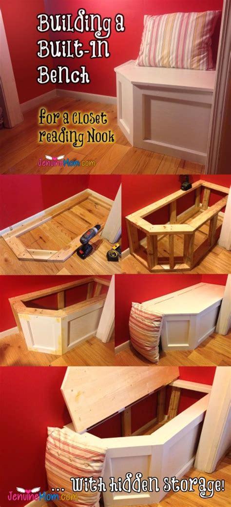 built  bench   office closetreading nook