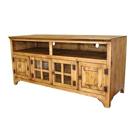 rustic pine collection gregorio tv stand com60