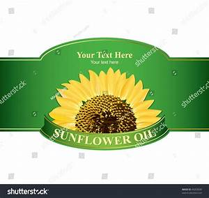 Design Labels Sunflower Oil Any Other Stock Vector ...