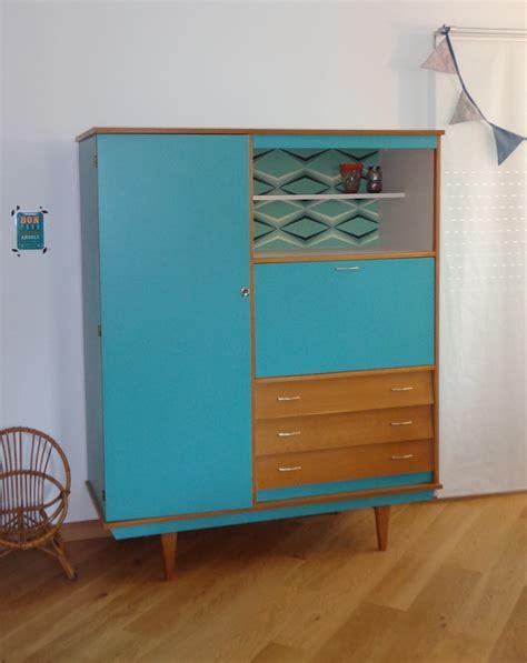 armoire de rangement bureau secrétaire vintage gabriel