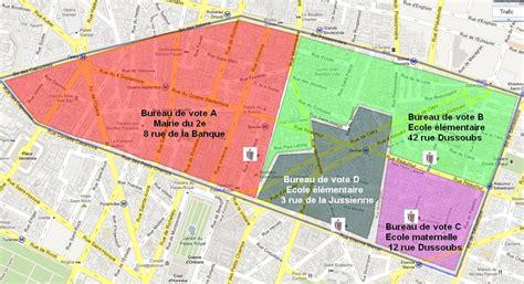 plan des bureaux bureaux de vote 2ème primaires 2011 section du