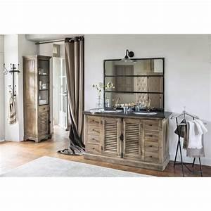 miroir en metal effet rouille h 120 cm cargo metaux With meuble salle de bain maison du monde