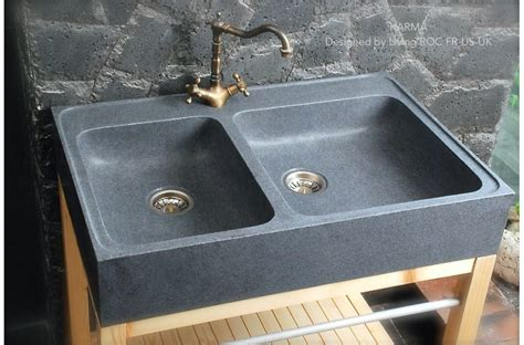 900mm Genuine Granite Stone Farmhouse Kitchen Sink Karma