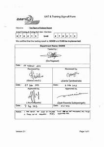 uat training sign off form With sign off template for testing