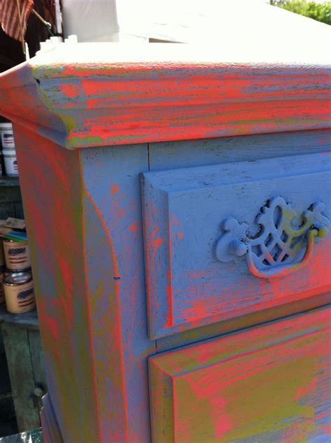 painting furniture nightstand tinting clear wax