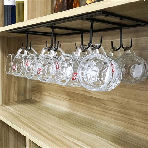 Cabinet Mug Rack 12 hooks cabinet shelf mugs coffee cups wine glasses