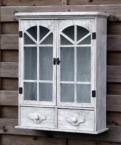 Küchenschrank Shabby Chic : h ngeschrank wandschrank k chenschrank vitrine landhaus shabby chic hellgrau ebay ~ Orissabook.com Haus und Dekorationen