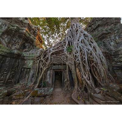 Ta Prohm temple Angkor Cambodia360° Aerial Panoramas