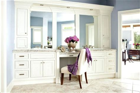 Bad lighting, lack of storage, and constantly fogged up bathroom vanity mirrors can be frustrating. bathroom vanity mirror placement design recessed lighting ...