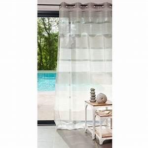 Rideau A Oeillet : rideau illets gris 140x250 intense maisons du monde ~ Dallasstarsshop.com Idées de Décoration