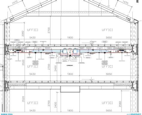 controsoffitto sezione sistemi radianti a soffitto per gli uffici tecnica e casi