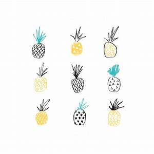pineapple illustrated art print by the lovely drawer ...
