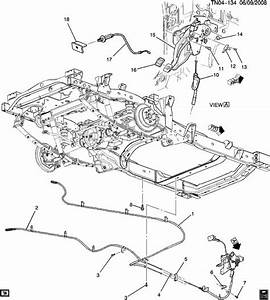 Chevrolet Colorado Cable  Parking Brake Release  Cable