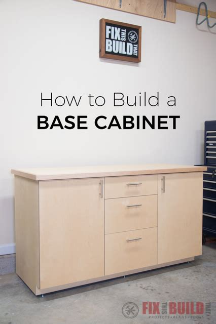 diy kitchen cabinet plans how to build a base cabinet with drawers fixthisbuildthat 6828