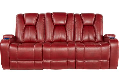 red leather reclining sofa alexander valley red power reclining sofa sofas red