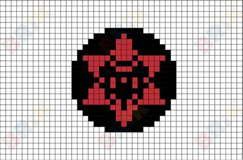 Sasuke's Sharingan Pixel Art