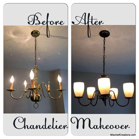 brass chandelier makeover mischief creations