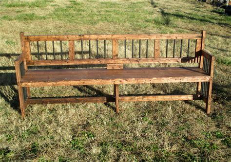 extra long reclamed wood bench rustic furniture  indoor