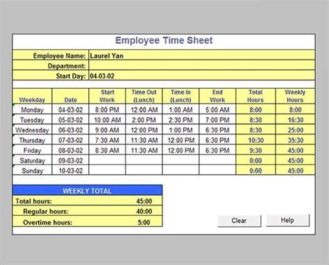 timesheet calculator templates