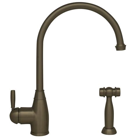 whitehaus kitchen faucet whitehaus collection queenhaus single handle standard kitchen faucet with side sprayer in