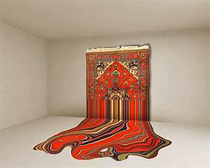 The carpet revisited spectacular work by faig ahmed for Drawing of carpet design
